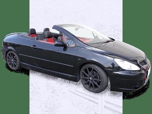 黒のオープンカー右横